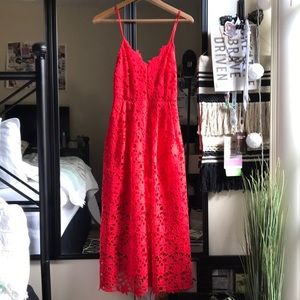 NWT ASTR The Label Red Lace Dress